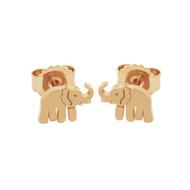 Rose Gold-Tone Sterling Silver Elephant Stud Earrings