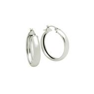Sterling Silver Hoop Design Earrings