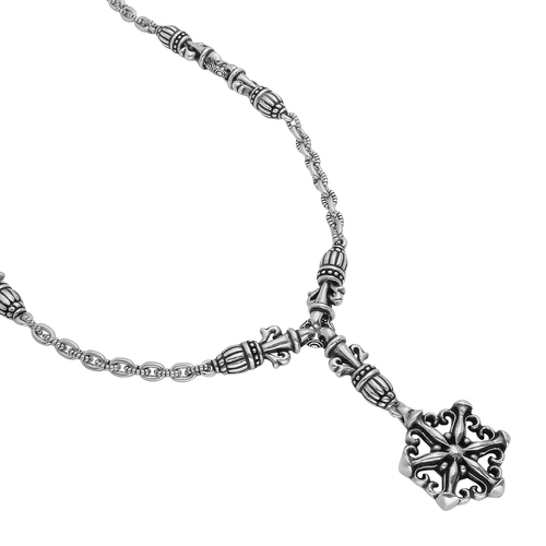 """Sterling Silver Twisted Blade Snowflake 21"""" Designer Necklace Jewelry"""