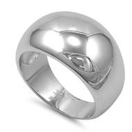 Plain Designer Ring Rhodium Plated Brass