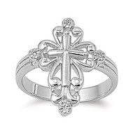 Grand Cross Aura Ring Rhodium Plated Brass Cubic Zirconia