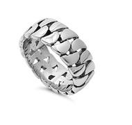 Belt Chain Design Ring Stainless Steel