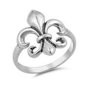 Fleur De Lis Sterling Silver 925 Ring
