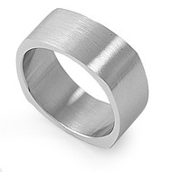 Matte Finished Band Ring Stainless Steel
