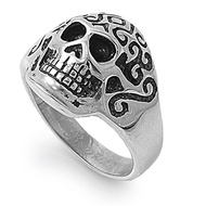 Skull Biker Ring Stainless Steel