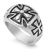 Iron Cross Biker Ring Stainless Steel
