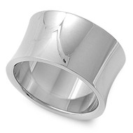 Concave Design Ring Stainless Steel