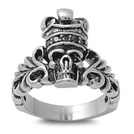 Creeper Illusionist Biker Skull Stainless Steel