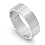 Plain 8MM Band Ring Stainless Steel