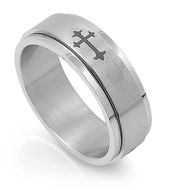 Cross Gothic Ring Stainless Steel