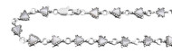 "Triangle White Cubic Zirconia Anklet 10"" Length Can Be Adjusted to Bracelet"