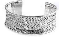 29MM Sterling Silver Braided Designer Bangle Bracelet