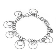 "Double Loop 8"" Charm Bracelet Sterling Silver"