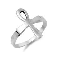 Ankh Cross Sterling Silver 925 Ring