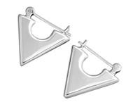 Triangular Hollow Hoop Earrings Sterling Silver 20MM