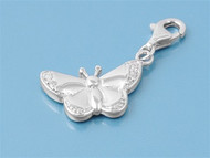 Butterfly Add On Charm Sterling Silver 17MM