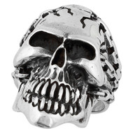 Prisoner of Anarchy Skull Ring Sterling Silver 925