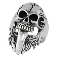 Demon Skull Ring Sterling Silver 925