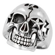 Seven Seals Skull Ring Sterling Silver 925