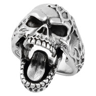 Electro Skull Ring Sterling Silver 925 (Moveable Jaw)