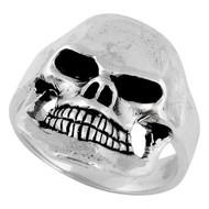 Famine Death Skull Ring Sterling Silver 925