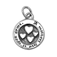 A Mother's Love is Open Arms Pendant Sterling Silver 14MM