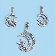 Moon Matching Set Sterling Silver 28MM