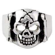 Branded to Die Skull Ring Sterling Silver 925