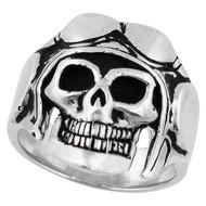 Aerial Voyager Skull Ring Sterling Silver 925
