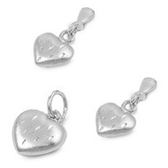 Heart Matching Set Sterling Silver 10MM