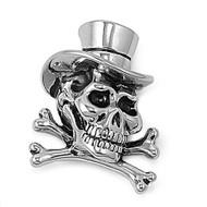 Magician Skull Pendant Stainles Steel 30MM
