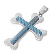 Cross Pendant Stainles Steel 40MM