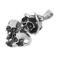 Three Skulls Pendant Stainles Steel 43MM