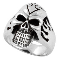 Diablo Outlaw Skull Ring Sterling Silver 925