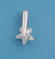 Star Cubic Zirconia Pendant Sterling Silver  12MM