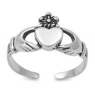 Claddagh Blesing Knuckle/Toe Ring Sterling Silver  8MM