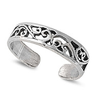 Filigree Knuckle/Toe Ring Sterling Silver  4MM