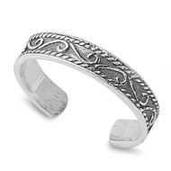 Tribal Bali Knuckle/Toe Ring Sterling Silver  3MM