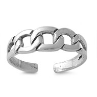 Chain Link Design Knuckle/Toe Ring Sterling Silver  5MM