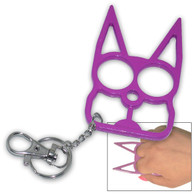 Cat Self Defense Key Chain Purple