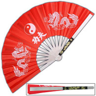 Tessen-Jutsu Iron Fan Weapon Dragon Red