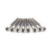 "#4 X 1 1/4"" Nickel Plated Oval Head  Wood Screw (Jaguar)"