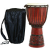 X8 Drums Celtic Labyrinth Backpacker Djembe with Tote Bag