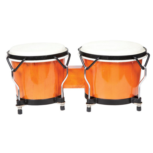 X8 Drums Endeavor Wood Bongos, Orange