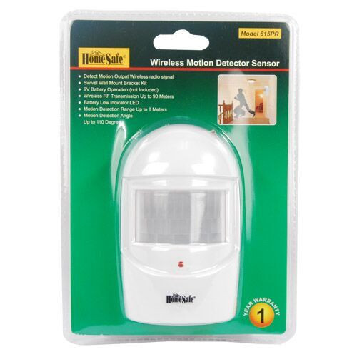 HomeSafe Wireless Home Security Motion  Detector Sensor