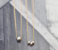 Gold Dipped Silver Nuggets Necklace