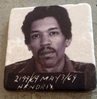 Jimi Hendrix MugShot Tile Coaster