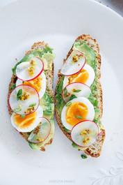 Avocado, Egg & Radish Toast