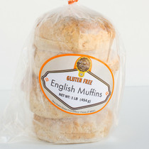 CASE OF GLUTEN-FREE ENGLISH MUFFINS - 9 packages, 4 each