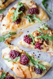 Blackberry & Brie Mini Pizzas